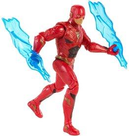 "Mattel The FLASH 6"" Figure DC Justice League Power Slingers w/ Electro Launchers and Shield"