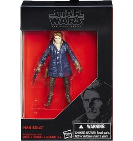 "Hasbro Star Wars Black Series Han Solo Blue Coat Walmart Exclusive 3.75"" Action Figure"