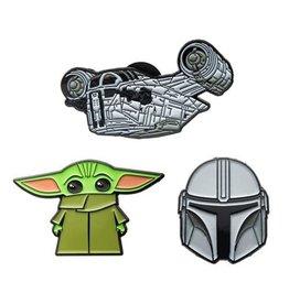 Salesone Star Wars The Mandalorian 3-Piece Enamel Pin Set