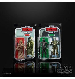 Hasbro Star Wars The Black Series 4-LOM and Zuckuss 6-Inch The Empire Strikes Back Collectible Figures 2-Pack (Exclusive)