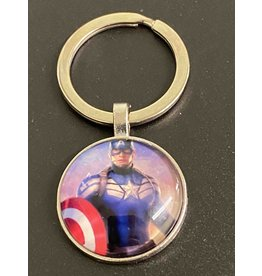 Graveyard Customs Captain America Glass Keychain