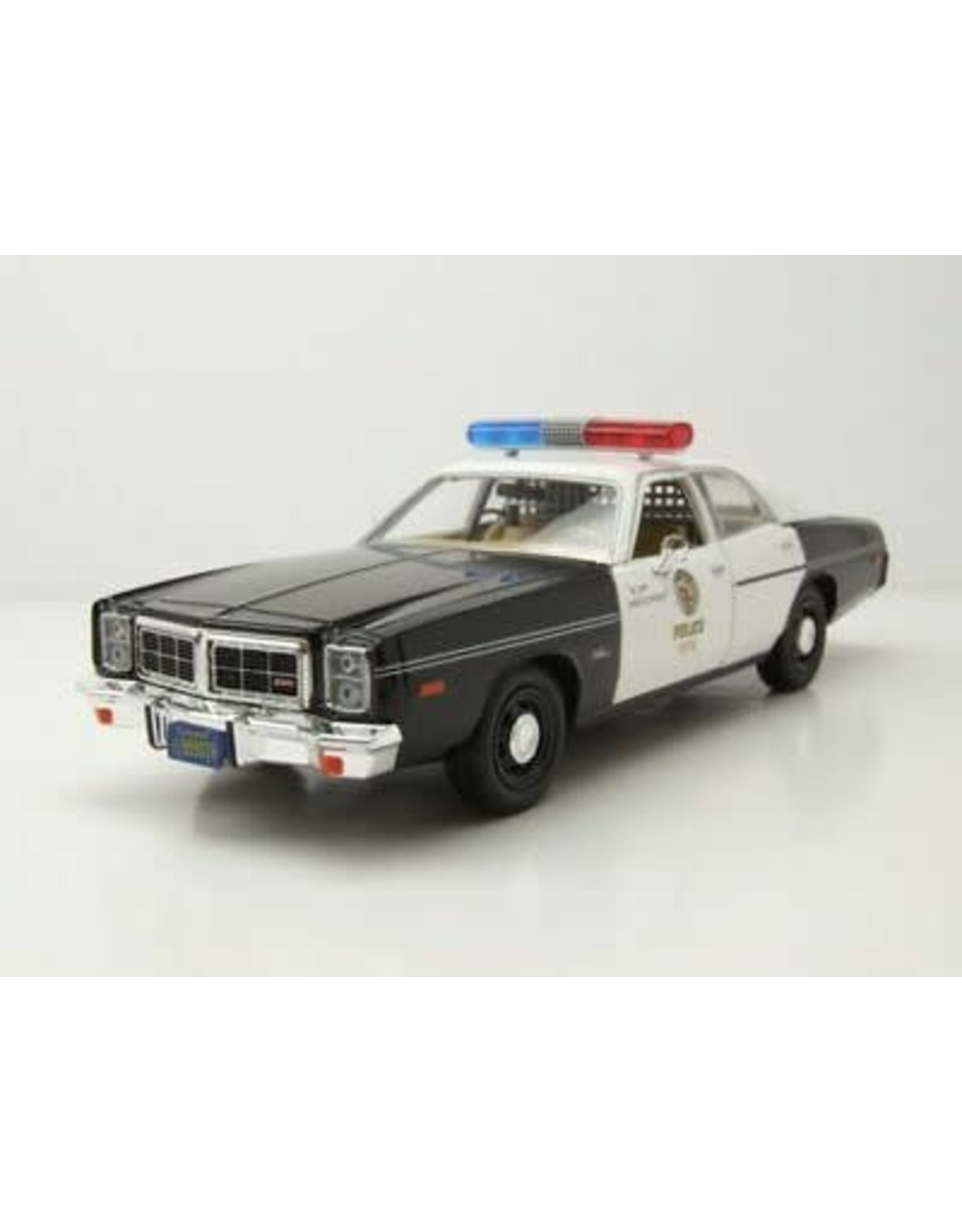1977 Dodge Monaco Metropolitan Police Black And White The Terminator 1984 Movie 1 24 Diecast Model Car By Greenlight Big Bang Toys