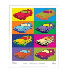 Factory Entertainment Back To the Future - Delorean Pop-Art Lithograph