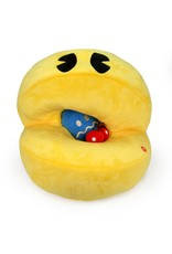 "kidrobot PAC-MAN HUNGRY PAC-MAN 15"" INTERACTIVE PLUSH PAC WITH SOUND CHIP"