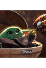 Giclee Star Wars: The Mandalorian An Unlikely Friend by Christopher Clark Canvas Giclee Art Print 25x20