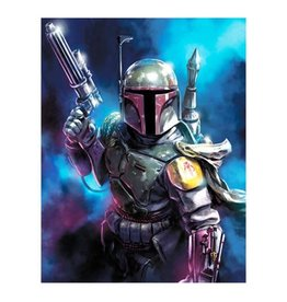 Giclee Star Wars From the Shadows by Santi Casas Canvas Giclee Art Print 34.5x28