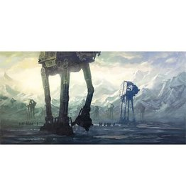 Giclee Star Wars Dawn at Hoth by Christopher Clark Canvas Giclee Art Print 37x21