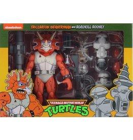 NECA NECA TMNT Triceraton Infantryman & Roadkill Rodney 2-Pack Exclusive