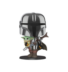 "Funko Pop! Star Wars: The Mandalorian - 10"" Mandalorian with The Child"