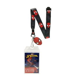 Silver Buffalo Spider-Man Border Lanyard with Badge Holder and Charm
