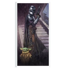 ACME Archives Star Wars: The Mandalorian A Foundling In Your Care by Brent Woodside Lithograph Art Print  12x24