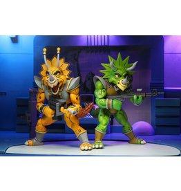 "NECA Teenage Mutant Ninja Turtles (Cartoon) - 7"" Scale Action Figure - Captain Zarax and Zork 2 Pack"