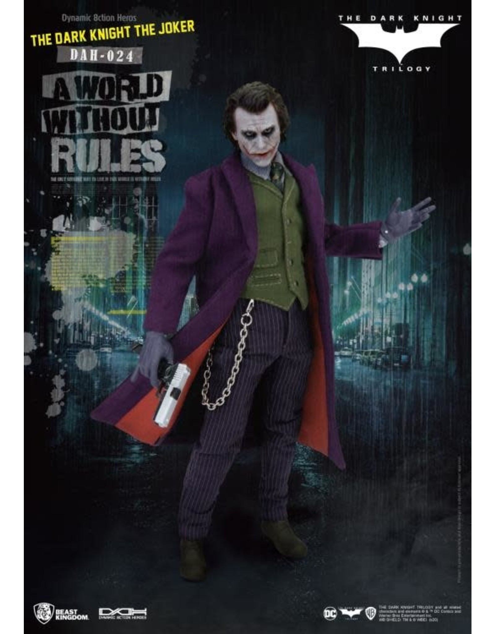 Beast Kingdom Batman: The Dark Knight Joker Dynamic 8ction DAH-024 Action Figure
