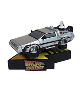 Factory Entertainment Back to the Future Part II DeLorean Time Machine Premium Motion Statue