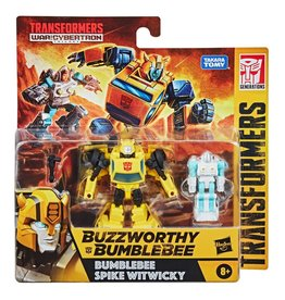 Hasbro Transformers Buzzworthy Bumblebee War for Cybertron Core Bumblebee & Spike Witwicky 2-Pack