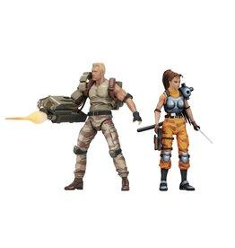 NECA Alien vs. Predator Dutch Schaefer & Linn Kurosawa (Arcade Appearance) Action Figure Two-Pack