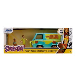 Jada Toys Scooby-Doo Mystery Machine with Scooby and Shaggy Figures 1:24 Die-Cast Metal Vehicle