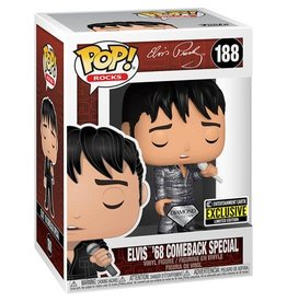 Funko Pop! Rocks: Elvis - '68 Comeback Special Diamond Glitter Entertainment Earth Exclusive