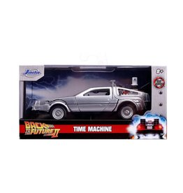 Jada Toys Back to the Future Part II Hollywood Rides 1/32 Scale Die-Cast DeLorean Time Machine