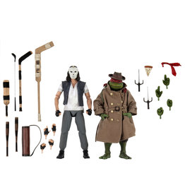 """NECA 7"""" Action Figure 2 Pack TMNT Casey Jones & Raphael in Disguise"""