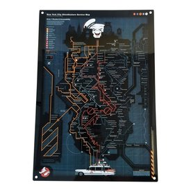 Factory Entertainment Ghostbusters - NYC Subway Map Metal Sign
