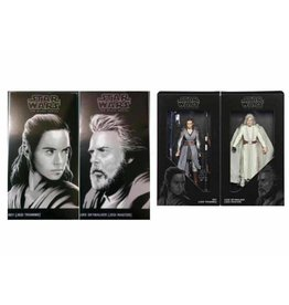 "Hasbro SDCC 2017 Hasbro Exclusive: Star Wars Black Series 6"" - Jedi Master Luke & Rey"