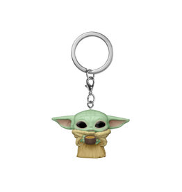 Funko Pocket Pop! Keychain: Star Wars: The Mandalorian - Child with Cup