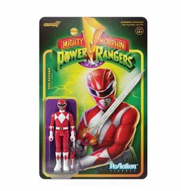 Super7 Mighty Morphin Power Rangers Reaction Figure Wave 1 - Red Ranger