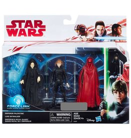 Hasbro Star Wars Force Link Emperor Palpatine, Luke Skywalker & Emperor's Royal Guard Action Figure 3-Pack