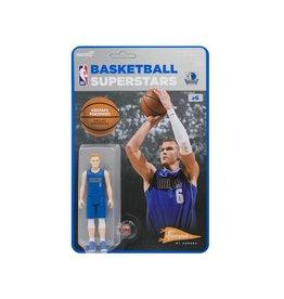 Super7 NBA Basketball Superstars ReAction Kristaps Porzingis (Dallas Mavericks) Figure