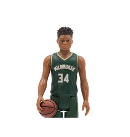 Super7 NBA Basketball Superstars ReAction Giannis Antetokoumpo (Milwaukee Bucks) Figure