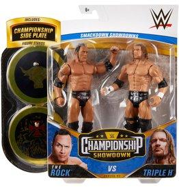 Mattle WWE The Rock Vs Triple H Championship Showdown 2-Pack Action Figures