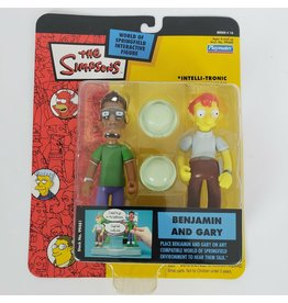 Playmates The Simpsons World of Springfield Series 16 Benjamin and Gary Figures
