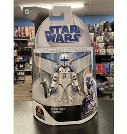 Hasbro Star Wars The Black Series Clone Pilot Hawk (Clone Wars Card Exlcusive)