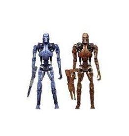 NECA NECA Robocop Vs. The Terminator - Endoskeleton Assault 2-Pack - 7 in - blue, red