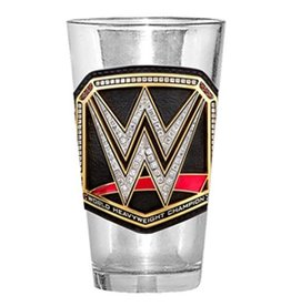 Silver Buffalo WWE Heavyweight Champ Belt 16 oz. Pint Glass
