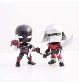 The Loyal Subjects Teenage Mutant Ninja Turtles Action Vinyls - Metallic Exclusive Shredder and Black Footclan Soldier 2-Pack