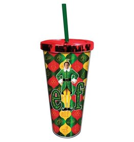 Spoontiques Elf Buddy the Elf 20 oz. Foil Cup with Straw