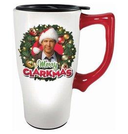 Spoontiques Christmas Vacation Merry Clarkmas 18 oz. Ceramic Travel Mug with Handle