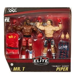 """mattel WWE Elite Collection Mr. T And """"Rowdy"""" Roddy Piper Action Figure 2-Pack"""