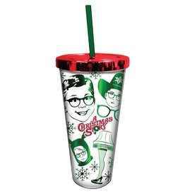 Spoontiques A Christmas Story Icons 20 oz. Foil Cup with Straw