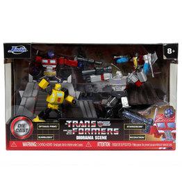"Jada Toys Transformers G1 MetalFigs 2.75"" Figure Diorama Set"