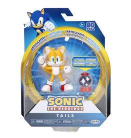 Jakks Sonic the Hedgehog 4-Inch Action Figures with Accessory Wave 4 Tails with Invincible Item Box