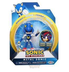Jakks Sonic the Hedgehog 4-Inch Action Figures with Accessory Wave 4 Metal Sonic with Trap Spring Box