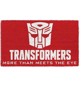 "Pyramid Transformers ""More Than Meets The Eye"" Logo Door Mat"