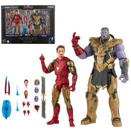 Hasbro Marvel Legends Infinity Saga Avengers Endgame Iron Man 85 vs. Thanos 6-Inch Action Figures 2-Pack