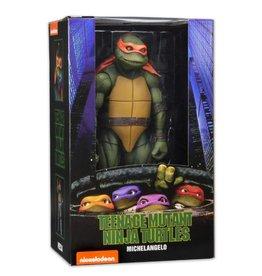 NECA [Damaged Box] TMNT (1990 Movie) Michelangelo 1/4 Scale Figure