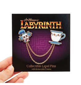 Little Shop of Pins Labyrinth Worm and Teacup Enamel Pin Set