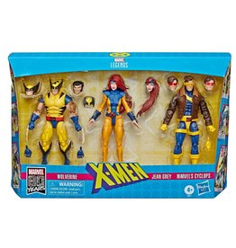 Hasbro Marvel Legends Series X-Men Wolverine, Jean Grey, and Cyclops (Love Triangle) Action Figure 3 Pack