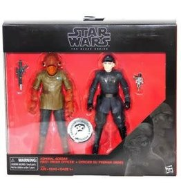 """Hasbro Star Wars The Black Series Admiral Ackbar & First Order Officer Toys""""R""""Us Exclusive 2-pack"""